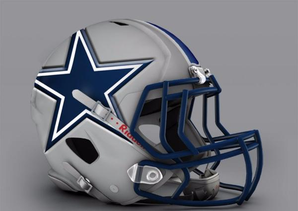 Check out the awesome redesigned nfl helmets of all 32 teams - Dallas cowboys concept helmet ...